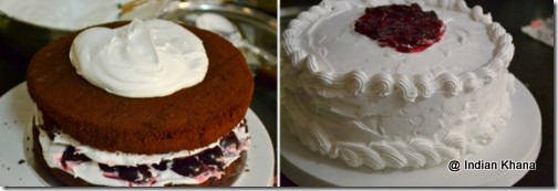 easy came recipe with cream frosting black forest