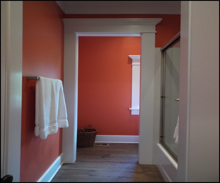 coral powder room