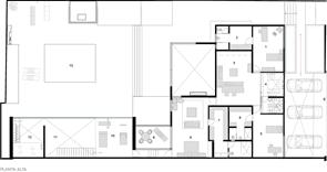Plano planta alta casa lomas de chapultepec