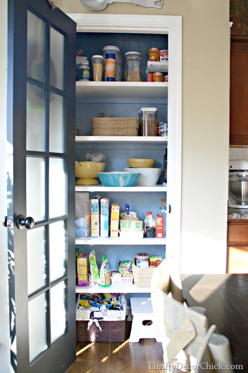 replacing wire shelves in pantry