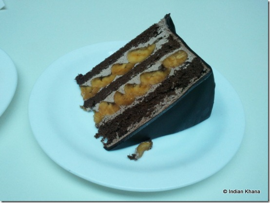 Secret Recipe Review chocolate banana cake