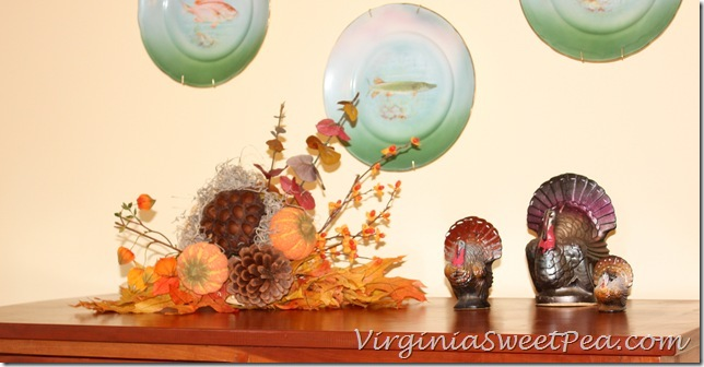 Turkeys in Dining Area - Cornucopia and Candles