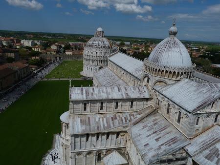 Obiective turistice Pisa: Catedrala si Baptiseriumul