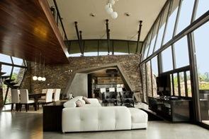 Diseño de interiores moderno en casas en Luque por BAUEN