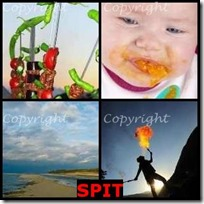 SPIT- 4 Pics 1 Word Answers 3 Letters