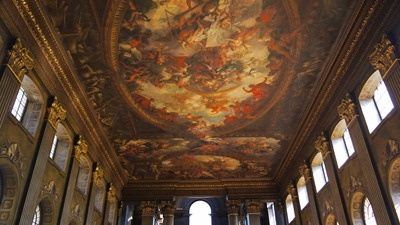 The ceiling in the Painted Hall