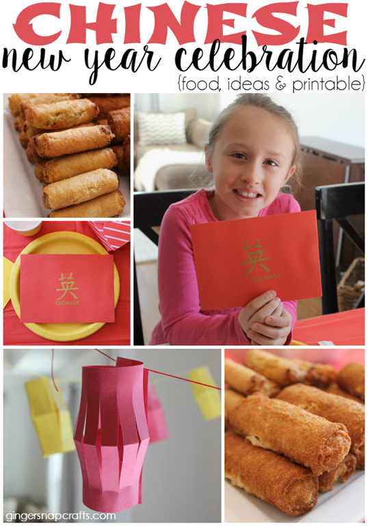 Chinese New Year Celebration {food, ideas & printable} at GingerSnapCrafts.com  #NewYearFortune #ad