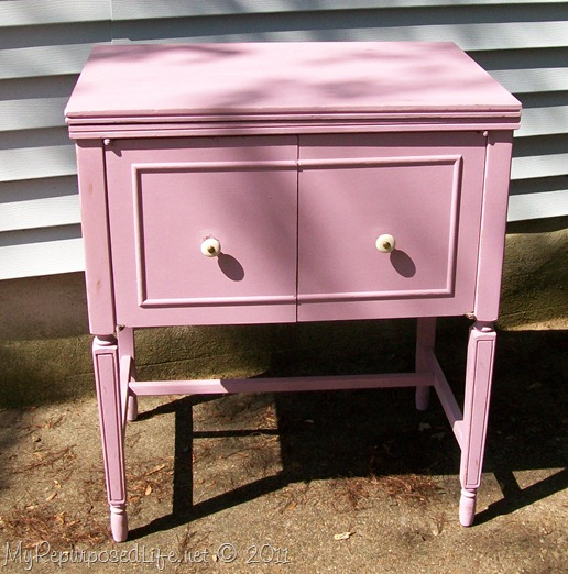 Sewing cabinet featuring annie sloan chalk paint my repurposed life vintage sewing cabinet watchthetrailerfo