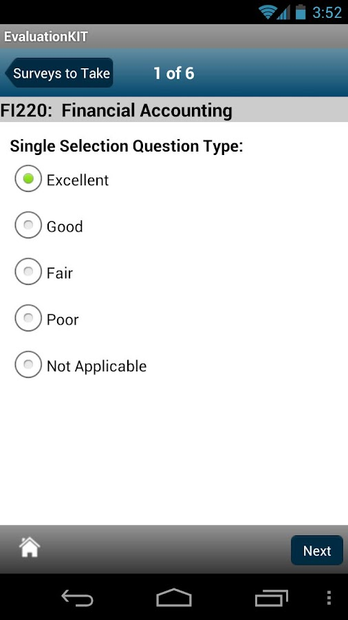 EvaluationKIT Mobile - screenshot