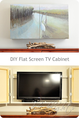 Dixie Delights DIY Flat Screen TV Cabinet