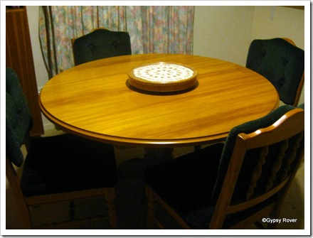 Lazy Susan on Table