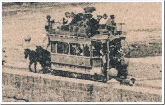 1900 - Tranvia de tracción animal,