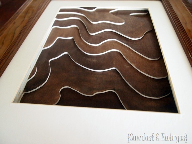 Wooden Topography Art Tutorial {Sawdust and Embryos}