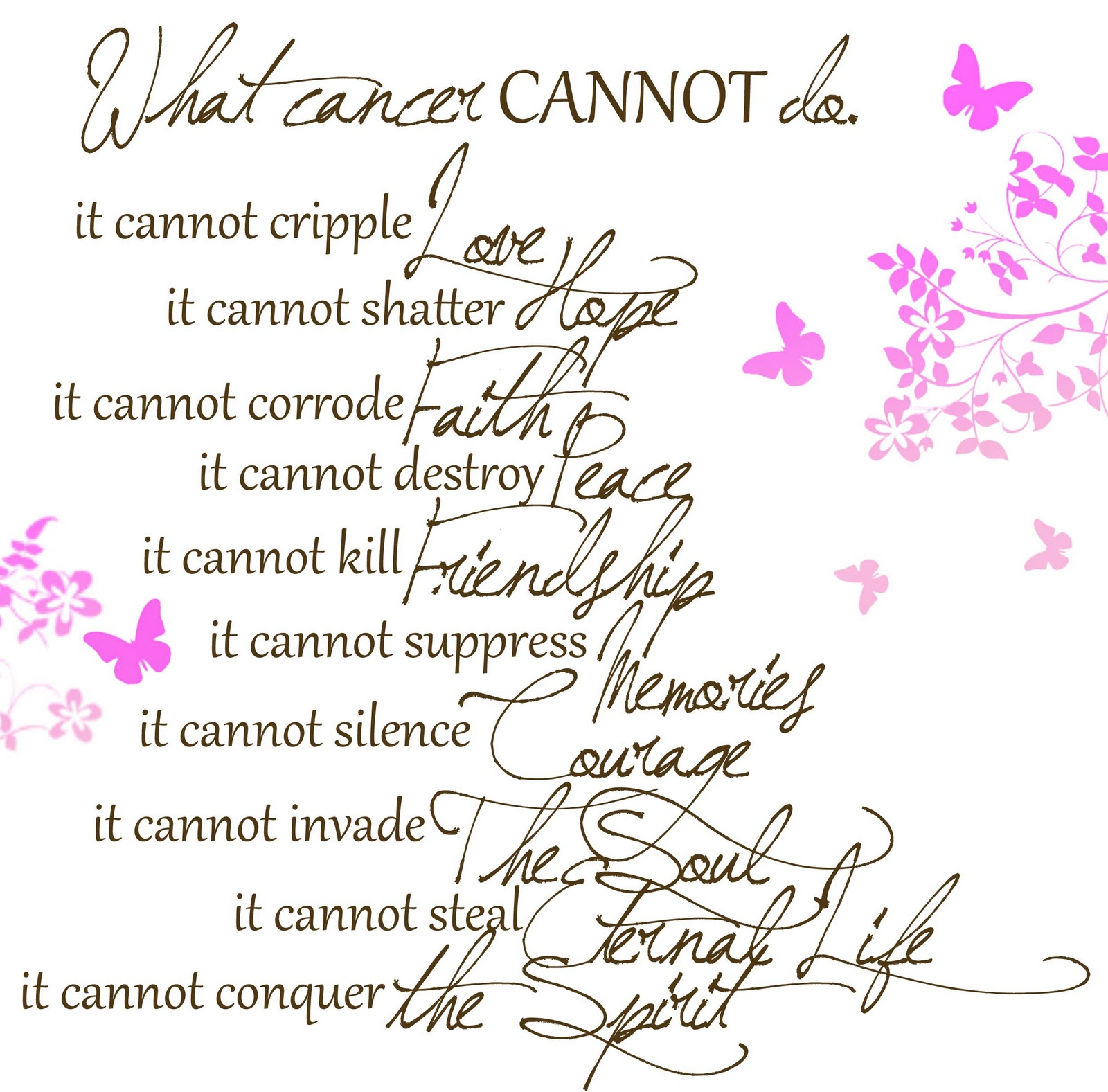 What Cancer Cannot Do Quote Best Quotes Images By Mary