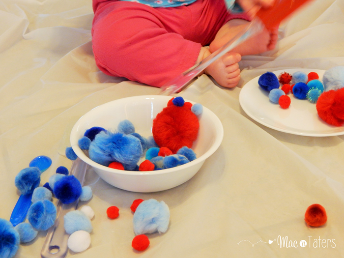 Red White & Blue Pom Pom Play2