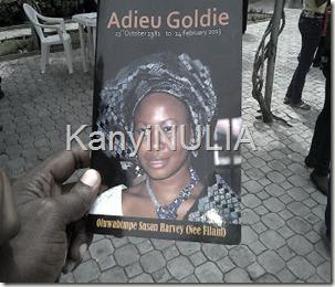Goldie burial