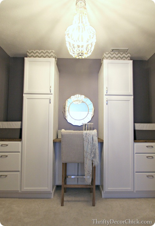 closet storage from kitchen cabinets