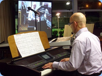 Warren Levick played our Clavinova with some lovely arrangements of jazz standards.