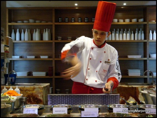 Marriott Café's Teppanyaki Station with Chef Manuel