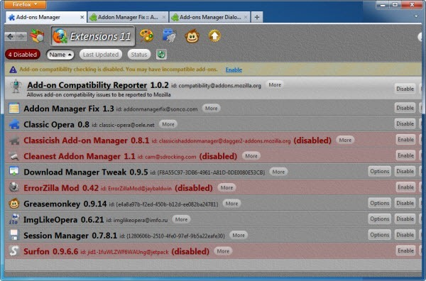 5 Alternative Add-on Managers For Firefox - Instant Fundas