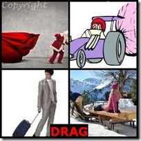 DRAG- 4 Pics 1 Word Answers 3 Letters