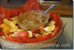 Farm Party Food Apple Dip