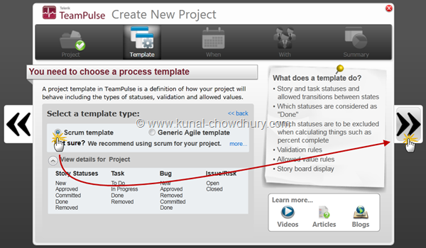 3. Select a Process Template