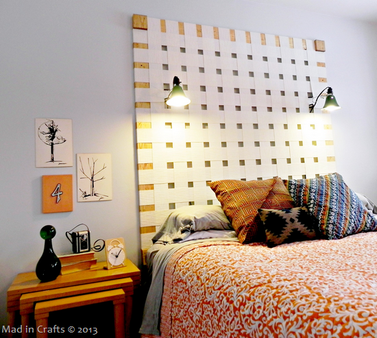 woven blinds headboard