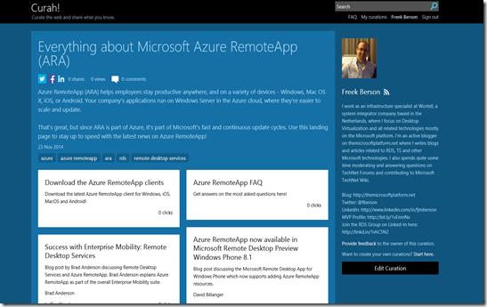 The Microsoft Platform: Microsoft Azure RemoteApp (ARA) on