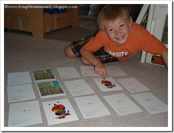 Child-size Masterpieces Memory Game