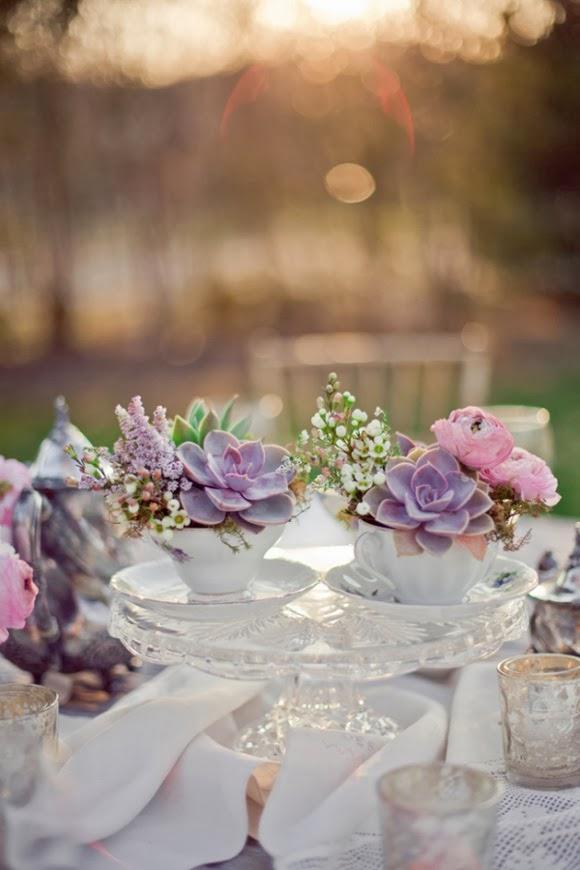 Arreglos florales en tazas inspiraci n rom ntica para tu casa for Tazas de te estilo vintage
