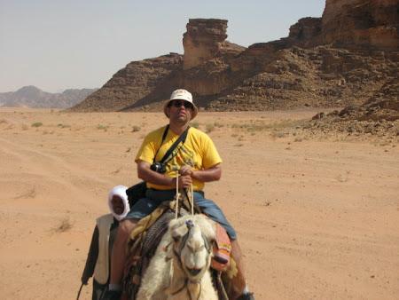 Imagini Wadi Rum: Calare pe camila