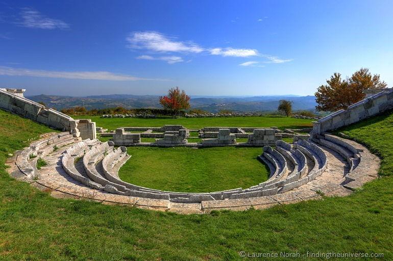 theatre at Samnite complex Pietrabbondante Italy