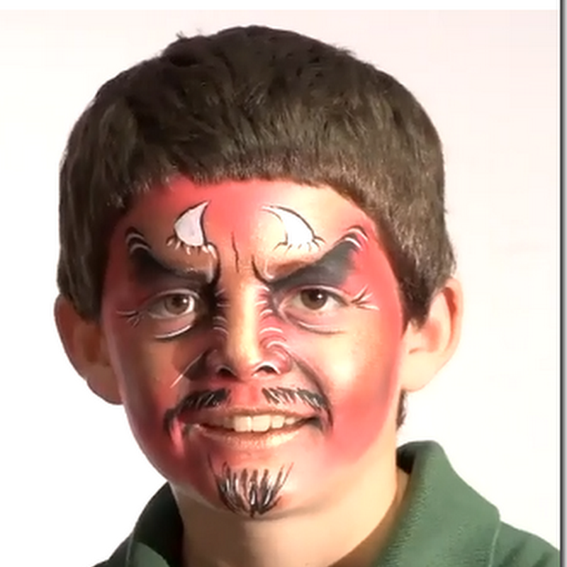 maquillaje de demonio para niño, video tutorial