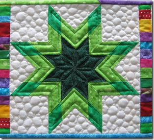 Closeup Green star