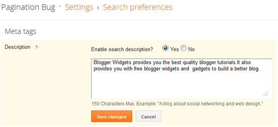 Meta Tags For Blogger