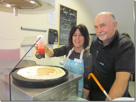 Tracy Shande and Roger Hinde cook up a new recipe at Swirly Whirlys