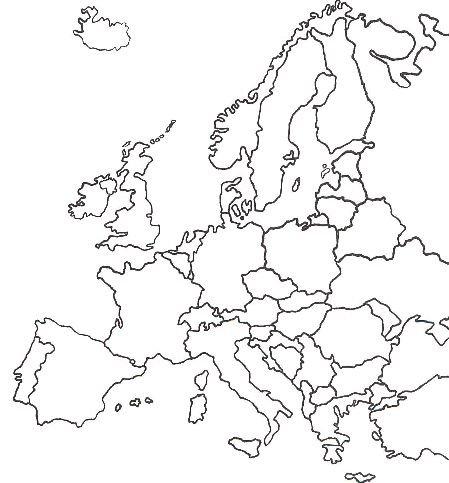 Dibujo del mapa de europa - Imagui