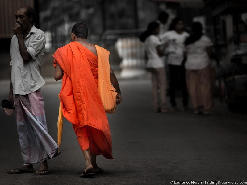 Monk walking Sri Lanka scaled