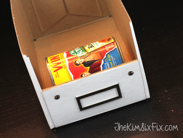 Ikea box can storage hack