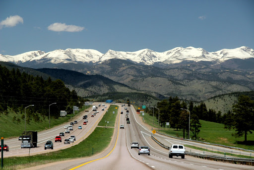 Wow!  Rocky mountains appearing on I-70 west of Denver.  Breathtaking