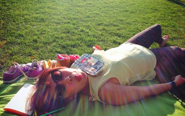 lying in the sun