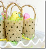 Burlap Ribbon Beeps Baskets