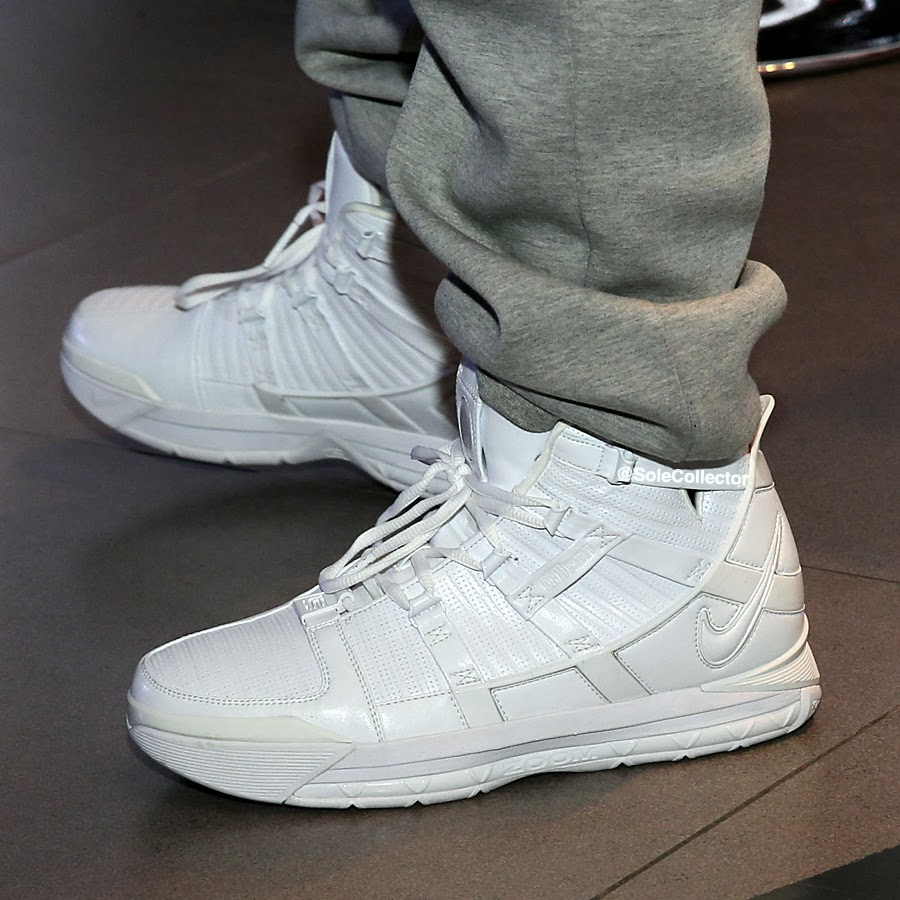 59621253ba4 Charles Williams Wears 8220White Collection8221 Zoom LeBron III at Nike  Event in Beijing ...