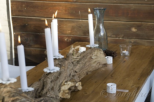 Tree Trunk Candle Stick 4