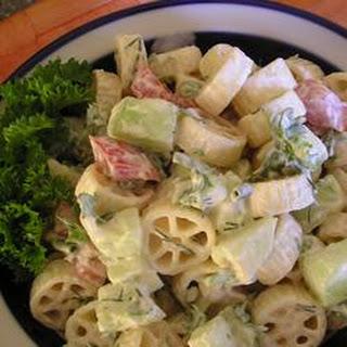 Cucumber Pasta Salad.
