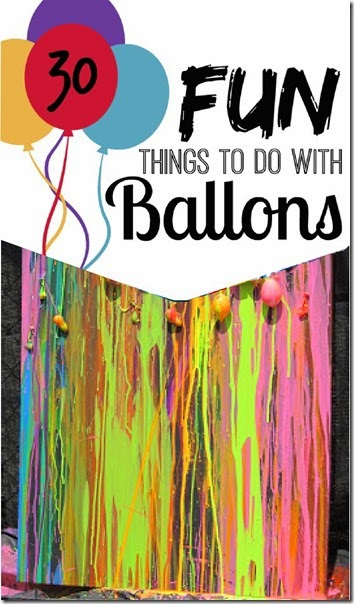 30 Balloon Activities for Kids - so many fun creative kids activities for kids from preschool and kindergarten to elementary age too!