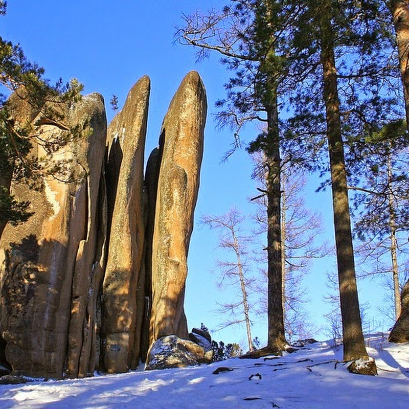 The Rock Pillars Of Krasnoyarsk Stolby Nature Reserve