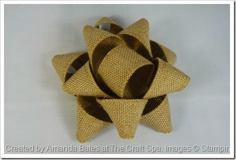 Gift Bow, Natural Ribbon (2)