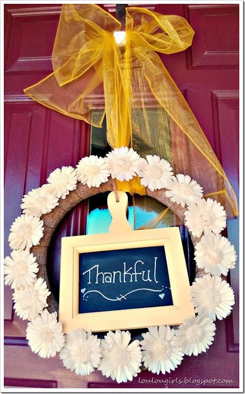 thanks wreath